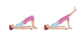 Exercício para reforçar o abdominal ilustração do vetor