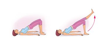 Exercício para reforçar o abdominal ilustração stock