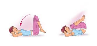 Exercício para reforçar o abdominal ilustração royalty free