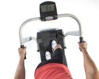 Exercício saudável do homem novo na escada rolante Imagem de Stock