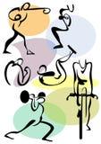 Exercícios atléticos ilustração stock