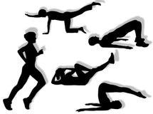 Exercícios da aptidão Imagem de Stock