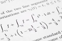 Exercícios da equação Fotografia de Stock Royalty Free