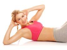 Exercícios da ginástica aeróbica Foto de Stock Royalty Free