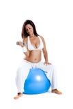 Exercícios da gravidez imagem de stock