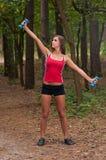 Exercícios da manhã no parque Foto de Stock