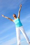 Exercícios de respiração Imagens de Stock Royalty Free