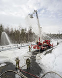 Exercícios para sapadores-bombeiros imagem de stock royalty free