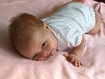 Exercícios recém-nascidos do bebê Imagem de Stock Royalty Free