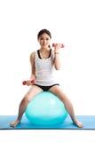 Exercício asiático da mulher Fotos de Stock Royalty Free