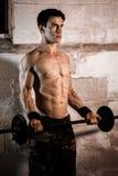 Exercício atlético do homem Imagens de Stock