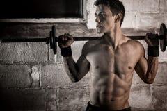 Exercício atlético do homem Imagem de Stock Royalty Free