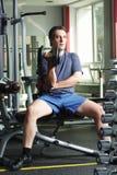 Exercício com dumb-bell Imagem de Stock Royalty Free
