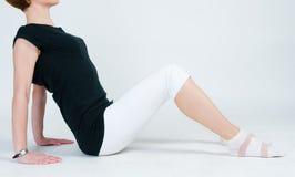 Exercício da menina da aptidão Imagem de Stock Royalty Free