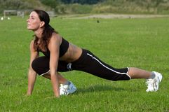 Exercício da mulher Foto de Stock Royalty Free