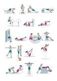 Exercício do treinamento da força Fotos de Stock
