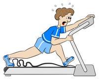 Exercício exaustivo da escada rolante Imagem de Stock Royalty Free