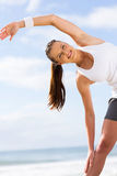 Exercício feliz da mulher Fotos de Stock Royalty Free