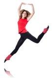 Exercício novo da ginasta Fotografia de Stock Royalty Free