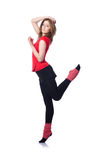 Exercício novo da ginasta Fotos de Stock Royalty Free
