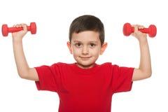 Exercícios com dumbbells Imagens de Stock Royalty Free