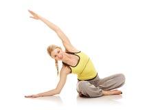 Exercícios da ginástica aeróbica Imagem de Stock