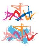 Exercícios da ginástica aeróbica da aptidão Fotografia de Stock Royalty Free
