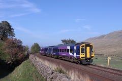 Exercez-vous dans Mallerstang sur la stabilisation à la ligne de Carlisle Photographie stock libre de droits