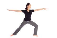 exercice适合的实践的女子瑜伽 库存照片