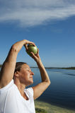 Exercice aérobie de femme mûre Images stock