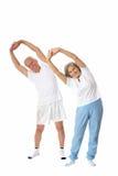 Exercice aîné de couples Photos stock