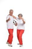 Exercice aîné de couples Photos libres de droits