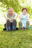 Exercice aîné de couples Image libre de droits