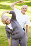 Exercice aîné de couples Image stock