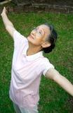 Exercice aîné de femme Photo libre de droits