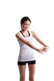 Exercice asiatique de femme Photos stock