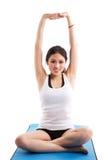 Exercice asiatique de femme Image stock