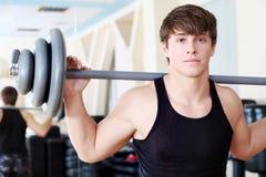 Exercice avec le poids Photo stock