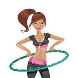 Exercice avec un cercle Illustration de vecteur illustration stock