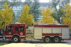Exercice contre l'incendie Photos stock