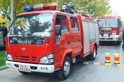 Exercice contre l'incendie Image libre de droits