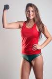Exercice convenable de femme Image stock