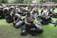 Exercice d'émeute Image stock