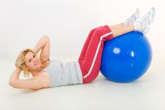 exercice d'abdomen Photo stock