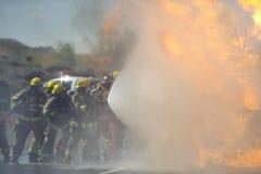 Exercice d'entraînement d'incendie images libres de droits