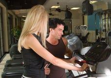 Exercice d'homme et de femme Photo stock