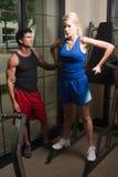 Exercice d'homme et de femme Photographie stock