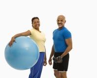 Exercice d'homme et de femme. Image stock