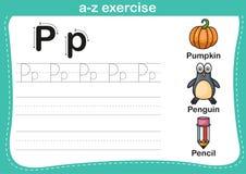 Exercice d'a-z d'alphabet Photo stock