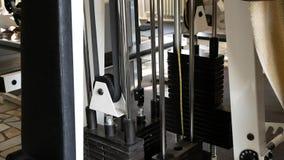 Exercice dans le gymnase Séances d'entraînement de coffre banque de vidéos